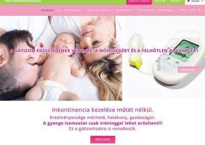 Weboldal készítés intimorvoslas.hu webshop részére