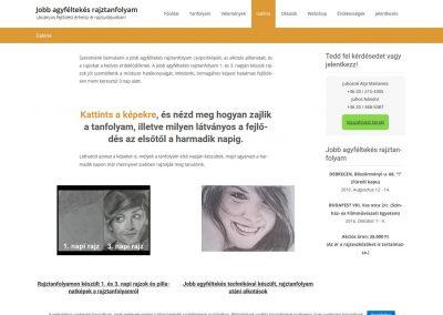 Weboldal készítés jobbrajztanfolyam.hu részére