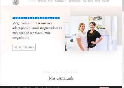 Weboldal készítés kozmetikadebrecen.hu Debrecen részére