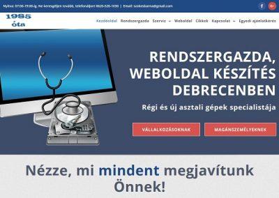 Weblap készítés szamitogepdoktor.hu részére